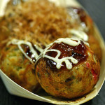 Takoyaki (fried octopus balls), 6 for S$4.80