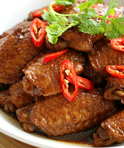 Soy sauce braised chicken wings