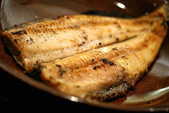 Charcoal grilled Atka mackerel, S$17.00 for set meal