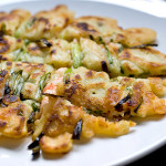 Korean spring onion pancake with prawn