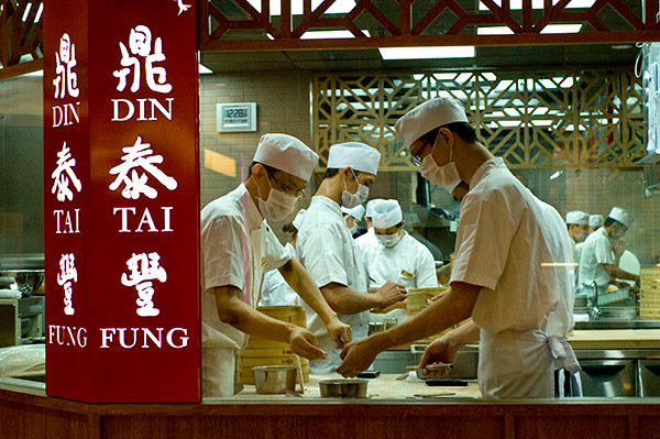 Din Tai Fung's open kitchen
