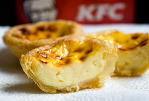 KFC egg tart, S$1.30 each / 6 for S$7.50