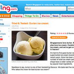 tried & tested durian ice cream