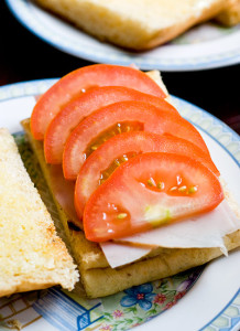 Luscious tomato+savoury ham+herby focaccia=Wholesome start to a beautiful day!