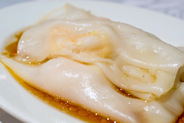 "Steamed ""Cheong Fun"" with Prawn"