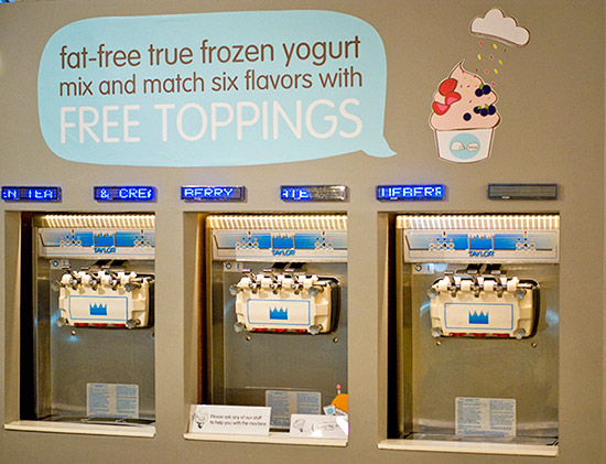 The yogurt machines