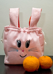 Putien's mandarin orange bunny carrier