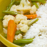 Stirfried cauliflower with French bean & carrot