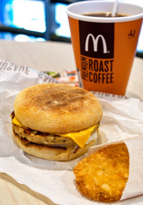 Sausage McMuffin with Egg breakfast set