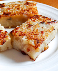 Crispy pan-fried radish cake
