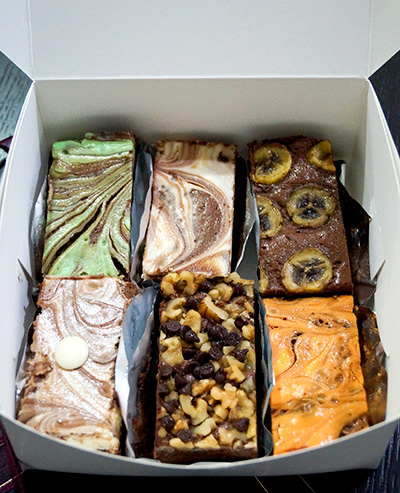 Assorted brownies from The Baker's Story
