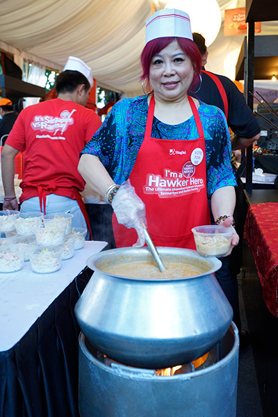 Madam Lucy Lim from 328 Katong Laksa.