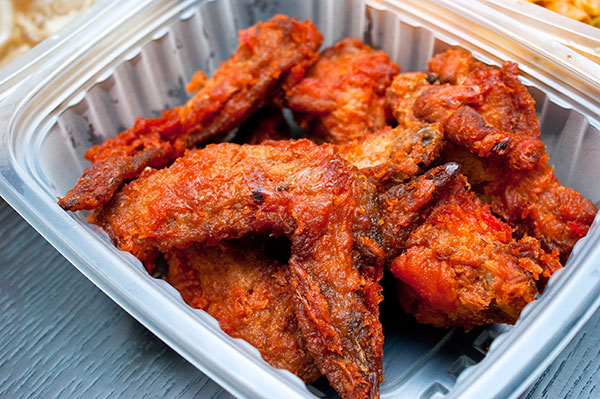 Prawn paste chicken wings.