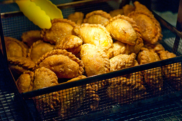 Freshly fried curry puffs!