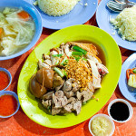 Chicken rice meal for two
