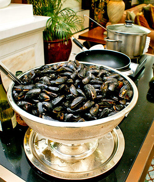Mussels cooked to order