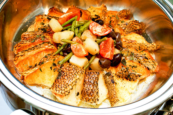Grilled codfish