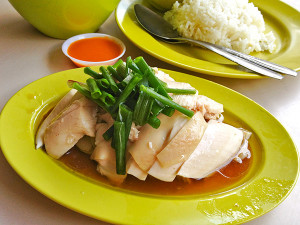 Chicken rice for one person