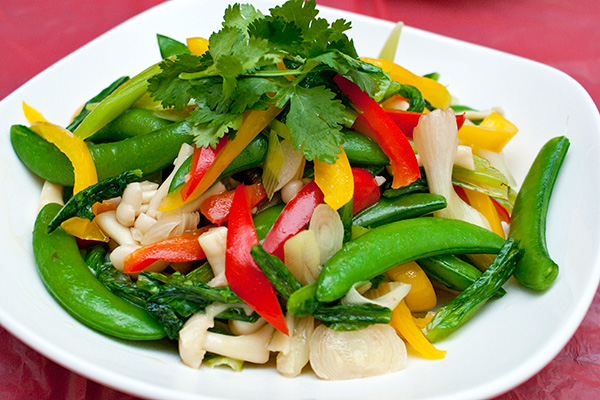 Assorted vegetables stirfry.