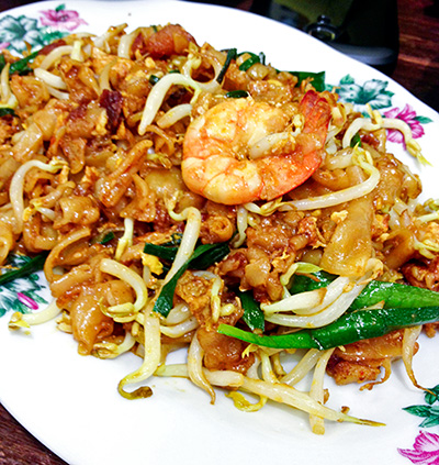Penang fried kway teow, S$5.00 (small)