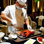 Our Peking duck being carved up
