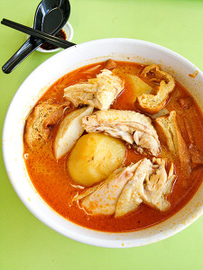 Curry chicken noodle, S$5.00