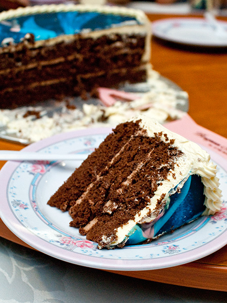 Chocolate sponge with butter cream cake