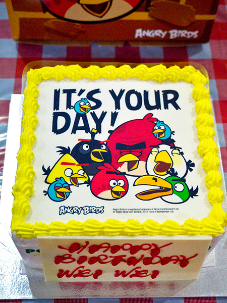 Meredith S Angry Birds Birthday Cake