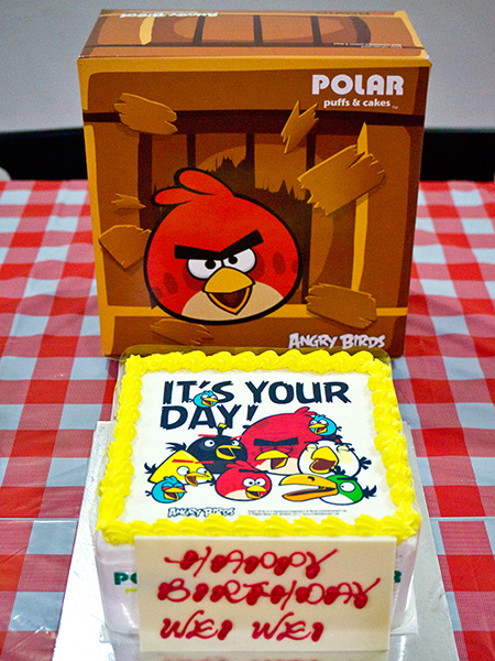 Comes with its own Angry Birds cake box