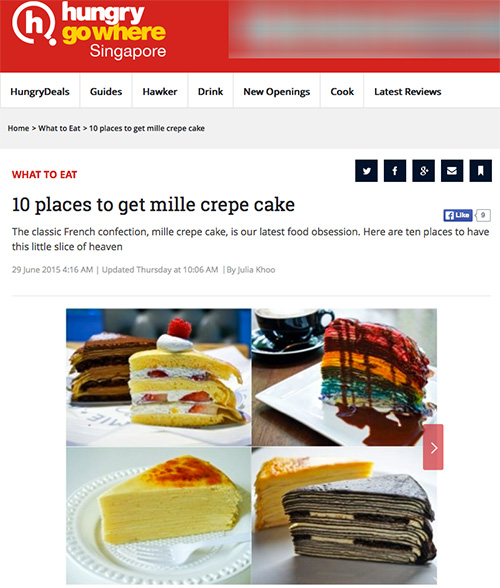 ... mille crepe cake. Yes, I ate of a lot of cake to bring you this